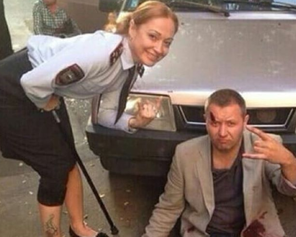 """Съемки финальной сцены сериала """"Карпов"""""""