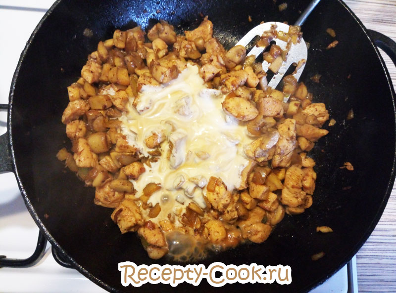 как приготовить курицу с грибами