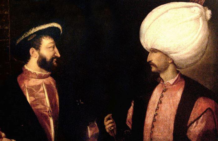 Франциск I и султан Сулейман | Фото: liveinternet.ru