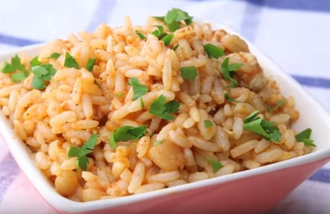 Рис с куриным фаршем