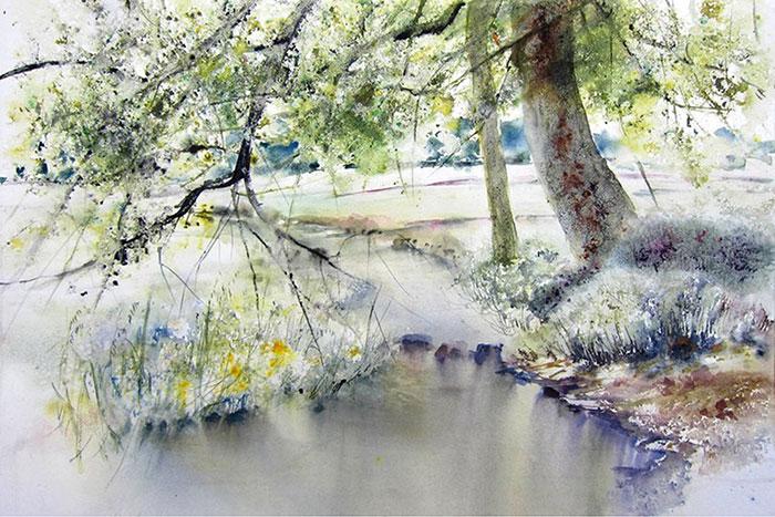 Королева акварели — полные чувства и символов картины Рейн-Мари Пиншон