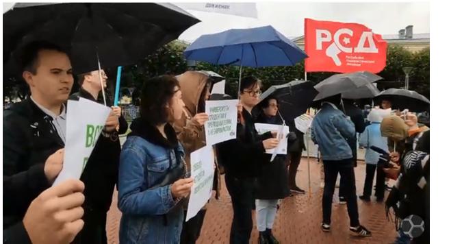 Организатор тухлого митинга от движения «Весна» требует свободу политзаключенным студентам и массовых беспорядков