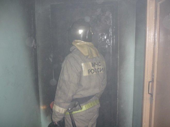 Из горящей квартиры в Новосибирске пожарные выносили детей на руках