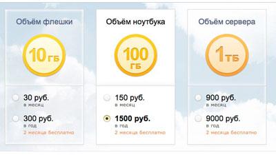 «Яндекс.Диск»  платно расширит  дисковое пространство