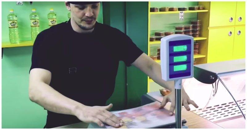 Один из способов обмана покупателей при помощи электронных весов
