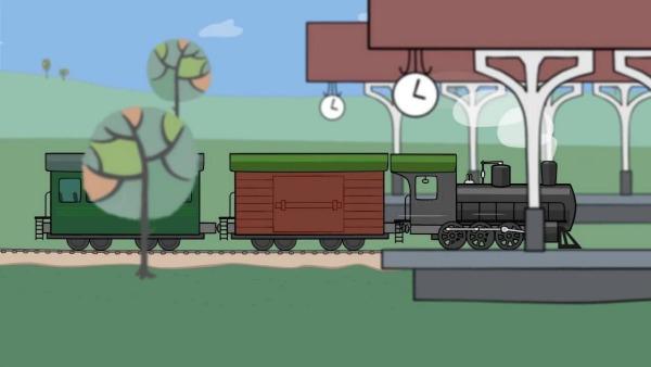 Из чего состоит паровоз? Развивающее видео для детей на французском языке