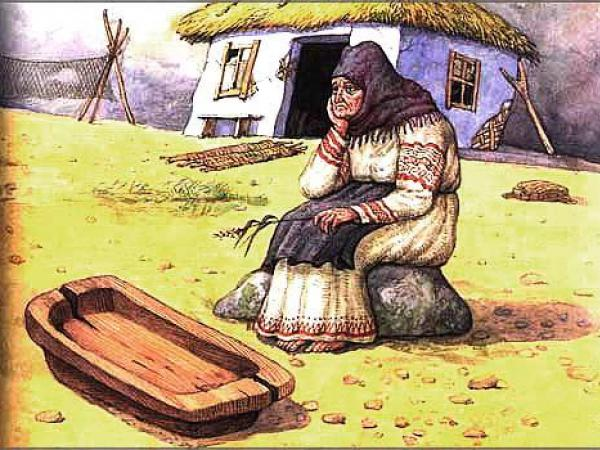 Демотиватор старуха у корыта