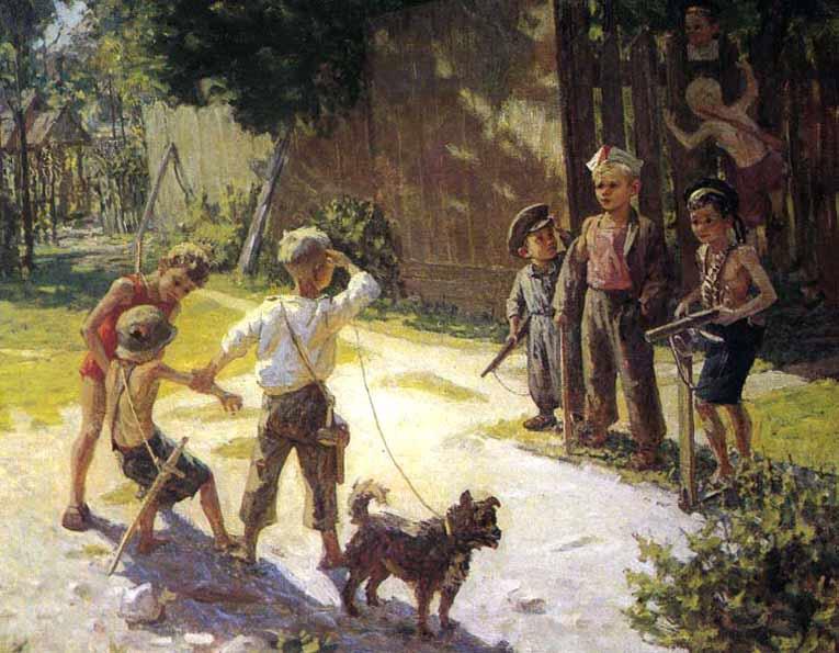 Посвящается дню защиты детей - Дети в картинах советских художников