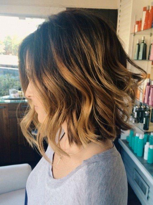 Мелирование волос градуированное каре