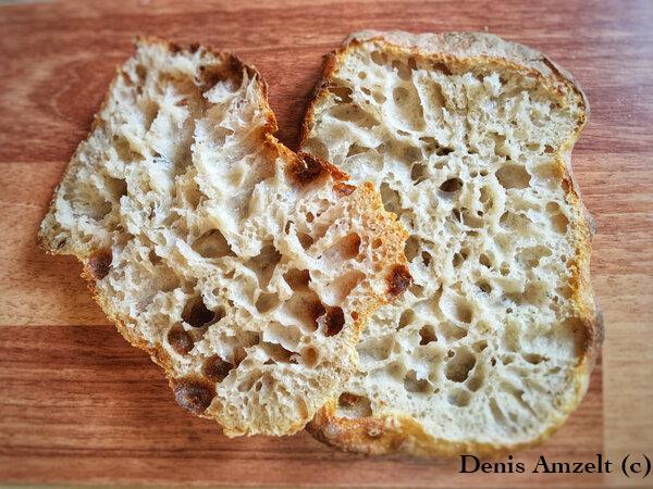 Итальянская чабатта 110% гидрации Хлеб, Закваска, Выпечка, Рецепт, Длиннопост, Чиабатта