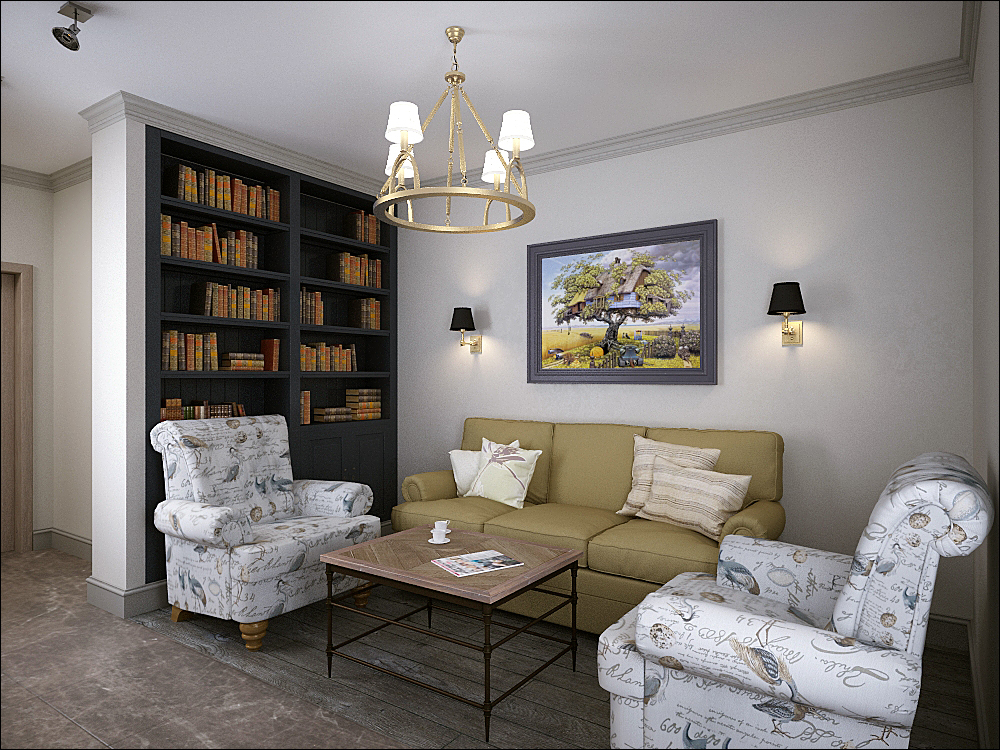 Новые традиции. Проект 1-комнатной квартиры со свободной планировкой