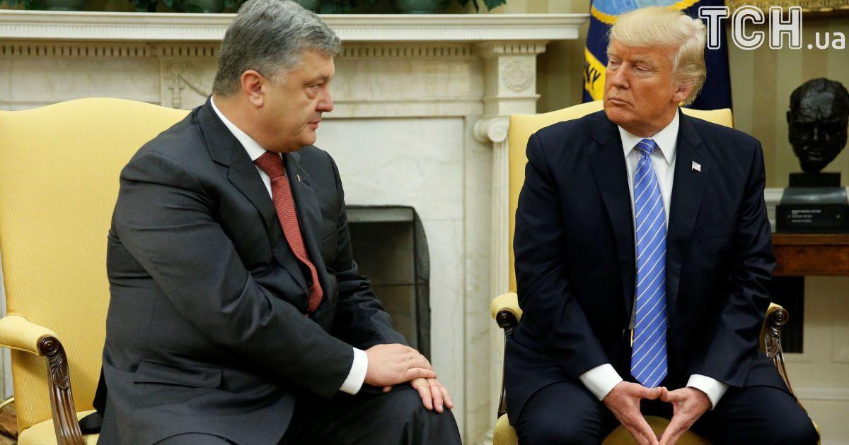 ШЕСТЬ минут позора: стенограмма встречи Трампа и Порошенко