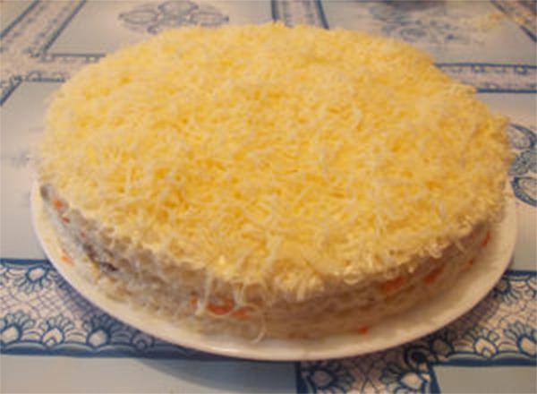 Абсолютная новинка — селёдочный торт. Такого вы точно не пробовали!