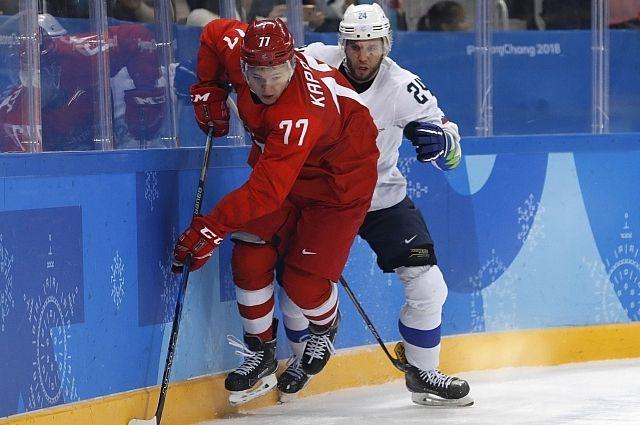 Российские хоккеисты разгромили сборную Словении в матче ОИ-2018