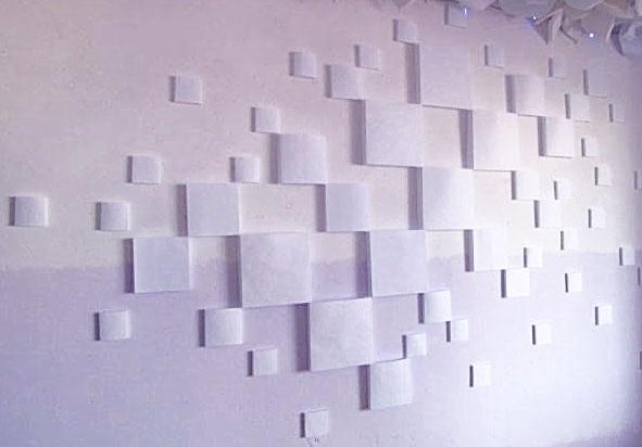 Геометрическая инсталляция на стену из бумаги (МК)