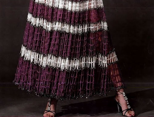 Шикарная юбка из обычной филейной сетки
