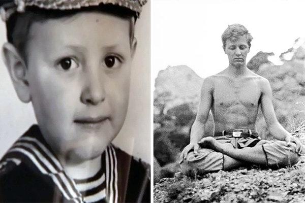 Детское фото звезды и фотография юности