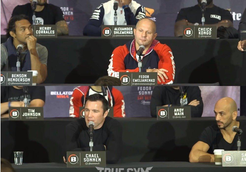 Прямая трансляция: Федор Емельяненко в рамках Bellator 208 начинает бой против Чейла Соннена