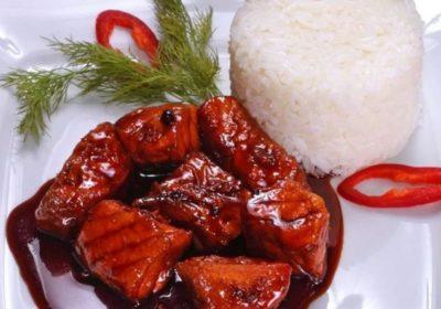 Мясо в карамельном соусе