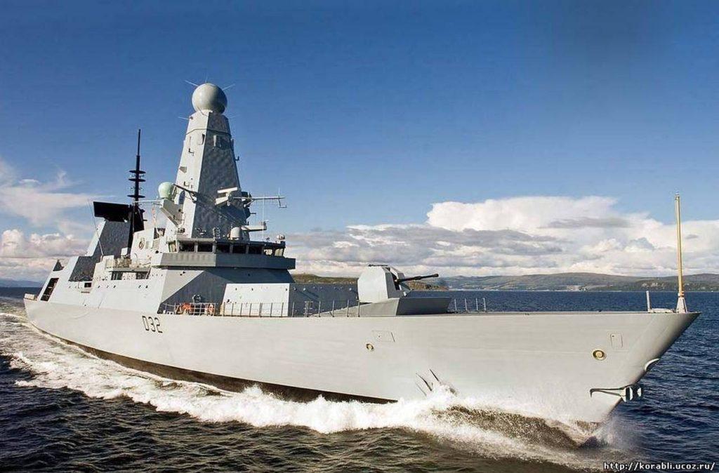 Эсминец королевского флота Великобритании HMS Daring