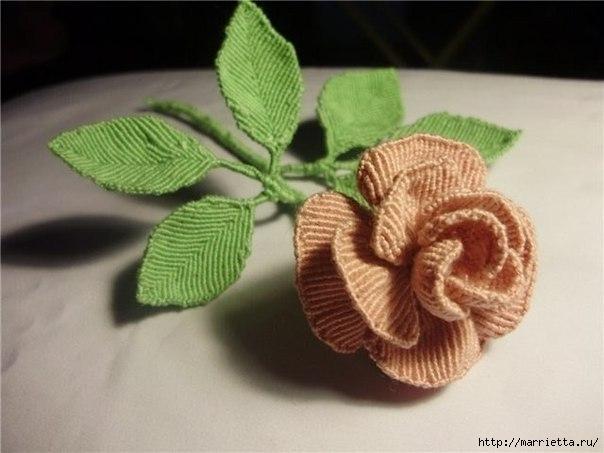 Цветы в технике китайского макраме (11) (604x453, 116Kb)