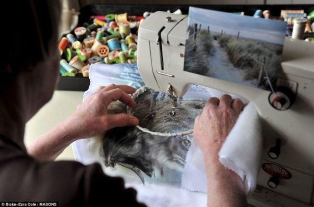 Высокое искусство — она вышивает… фотографии