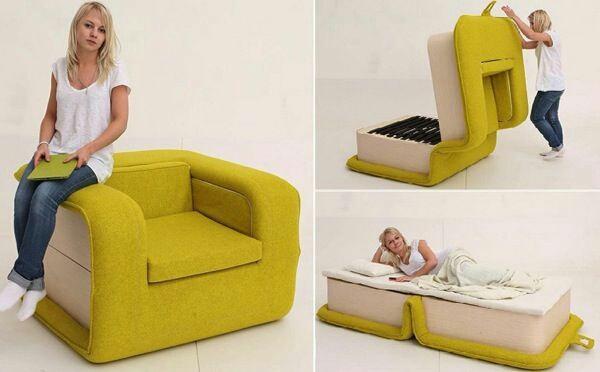 Необычное раскладное кресло