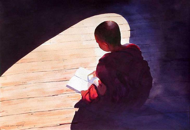 Акварельные картины художник Мьё Вин Онг 13