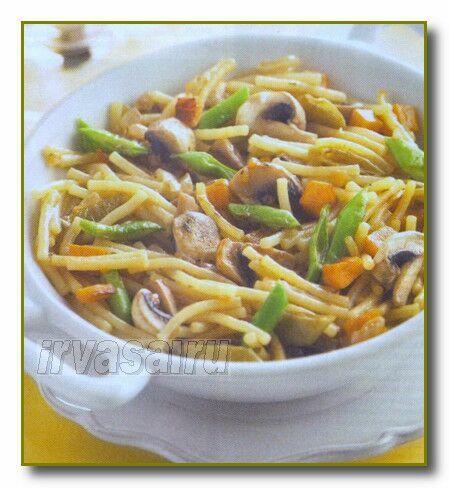 Вермишель с грибами – быстрое и вкусное блюдо