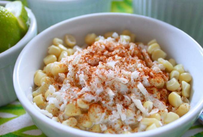 Салат с кукурузой и сыром «Эските»