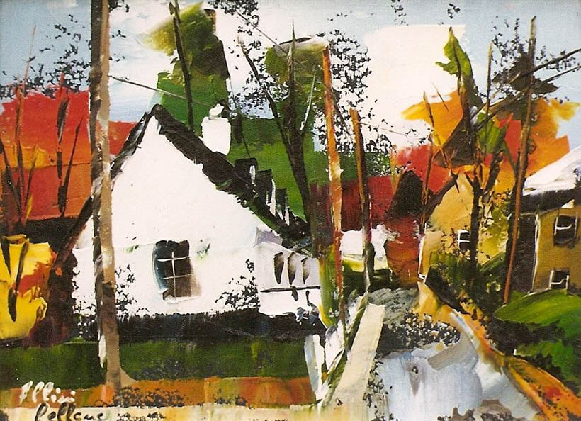 Канадский художник Albini Leblanc. Миниатюры мастихином. Пятнадцатая