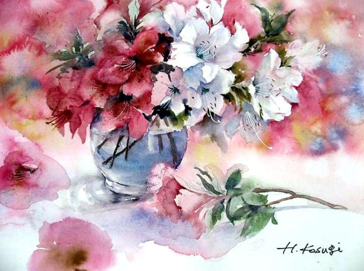 «Нежность цветка на столе…» Японская художница Harumi Kosugi