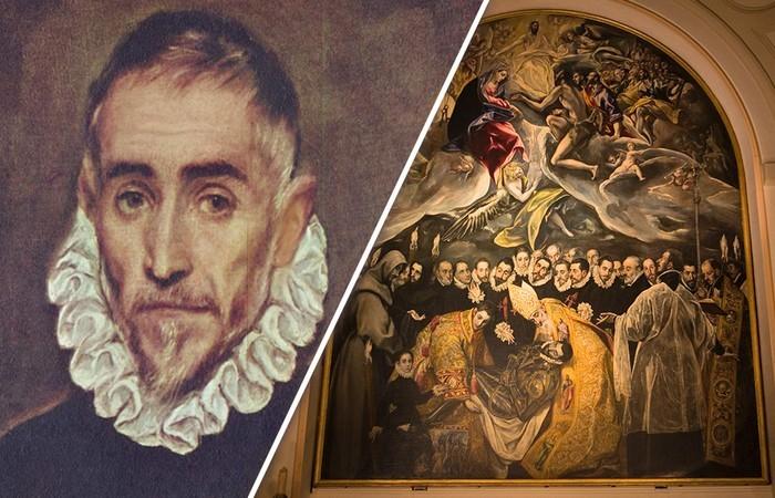 Эль Греко и его картина *Погребение графа Оргаса*.