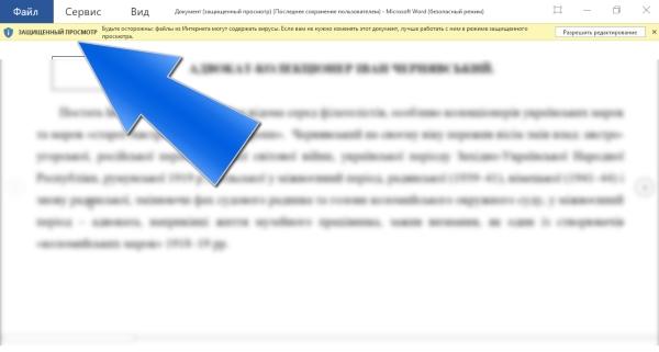 Как отключить защищенный просмотр в Microsoft Office (Word, Excel...)
