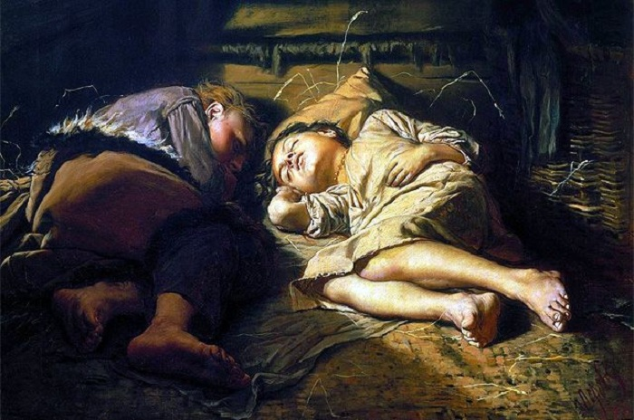 Спящие дети. Автор: Василий Григорьевич Перов.