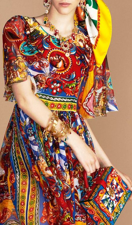 Dolce&Gabbana. Lookbook pret-a-porter весна-лето 2016 — шикарные краски лета по-итальянски