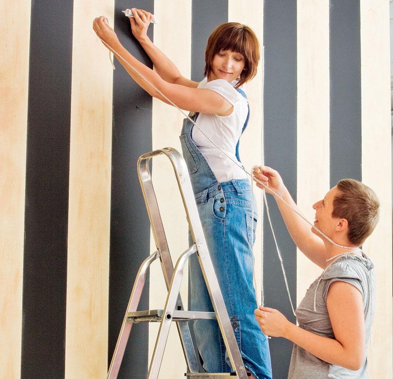Стены в полоску - 100 идей нескучного полосатого интерьера ...