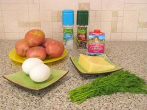 Картофельное суфле. Ингредиенты