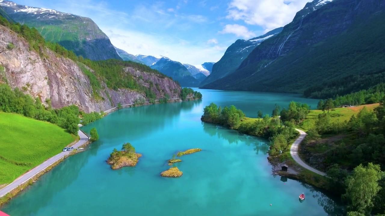 Красоты озера Ловатнет в Норвегии