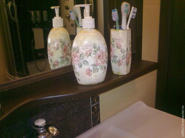 Винтажный набор для ванной комнаты своими руками