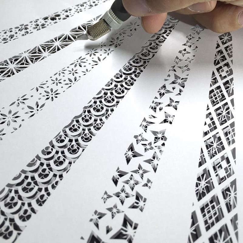 Шесть узоров Мандалы, бумага, зентангл, художник