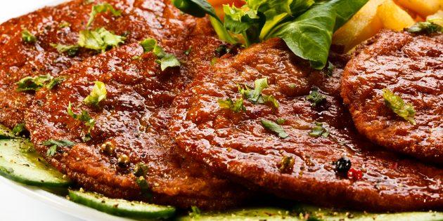 Отбивные из свинины с соевым соусом