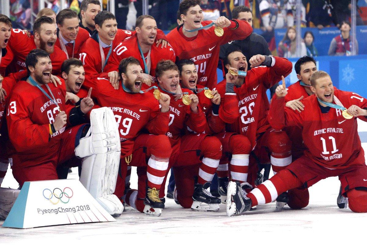 Золото!!! В захватывающем хоккейном финале русские завоевали победу!