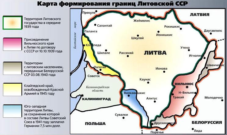 Литва в 1940 году