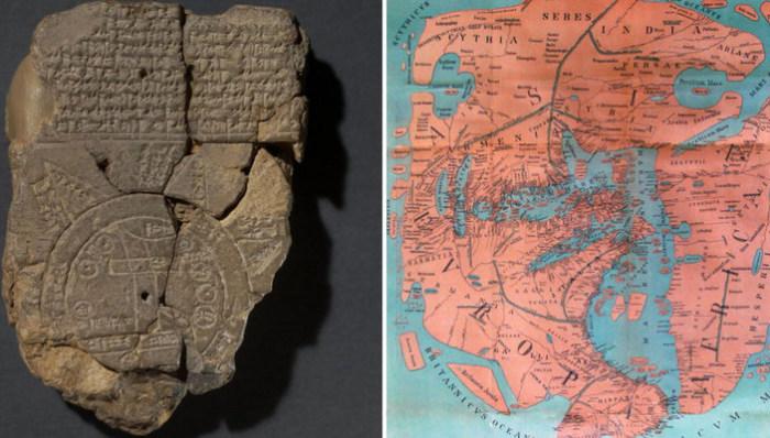Как выглядели древние географические карты