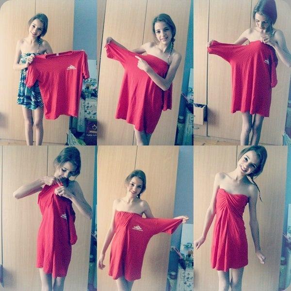Идея платья из фтболки