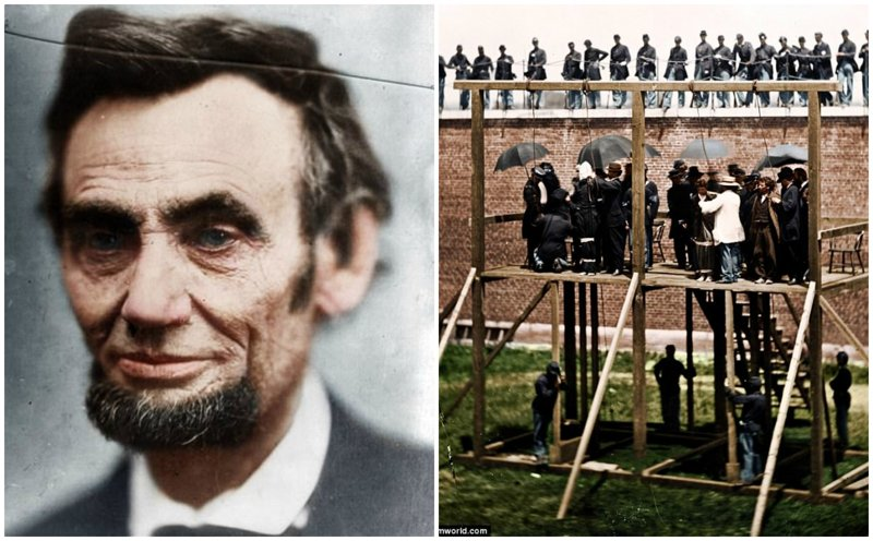 Убийцы Линкольна: исторические кадры в цвете исторические кадры, история, колоризация, колоризированные фото, линкольн, редкие фото, фото, цветные фото