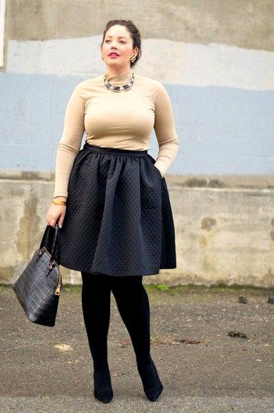Как выбирать юбки, если вы считаете свои ноги полными