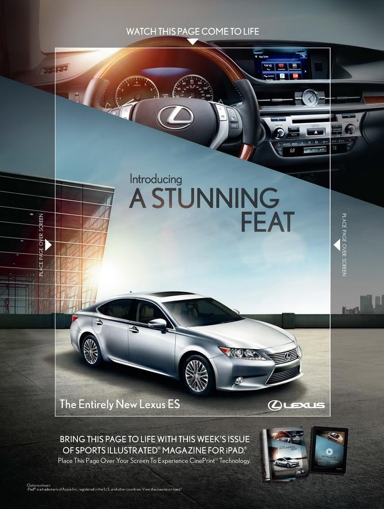 Lexus оживил печатную рекламу с помощью Ipad