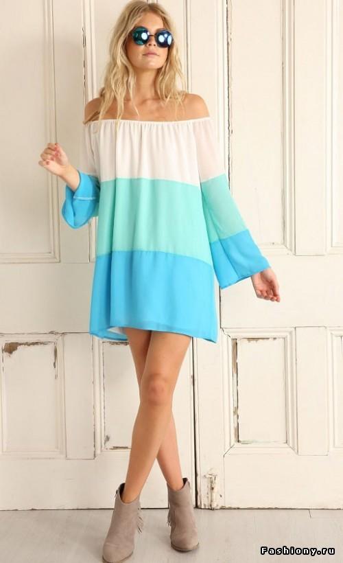 Платья и блузки с очень открытыми плечами.Красиво и стильно
